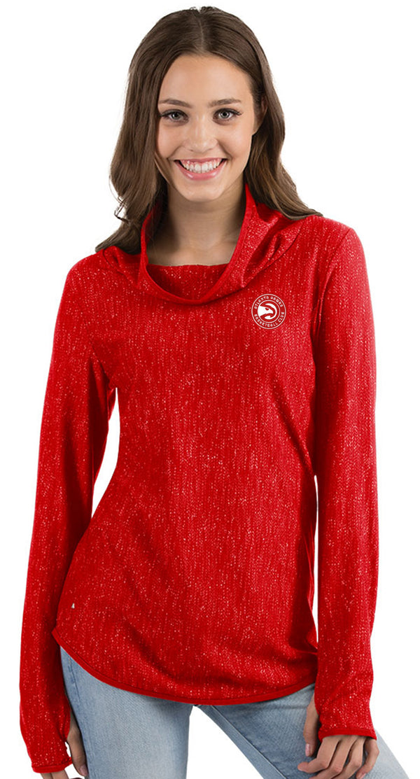 Women's Antigua Equalizer Cowl Neck Pullover