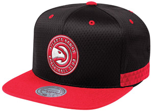 Mitchell & Ness Black Woven Stripe Snapback