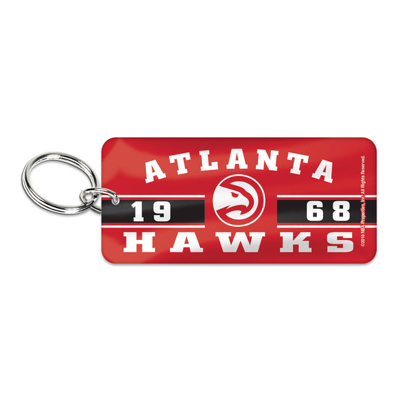 Hawks Rectangle Established Keyring