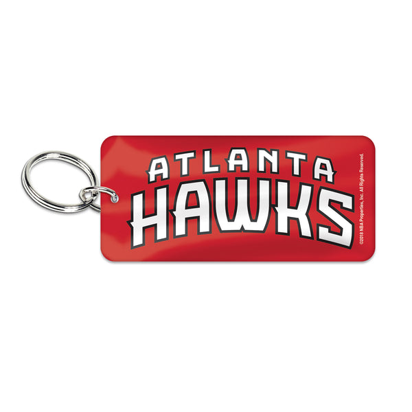Hawks Rectangle Wordmark Keyring