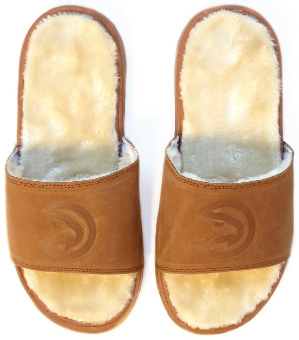 iSlide Tan Fur Slides