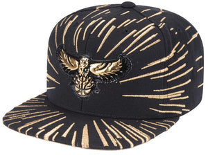 Mitchell & Ness Throwback Gold Nucleo Snapback
