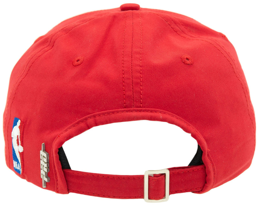Pro Standard Red Leather Curve Snapback