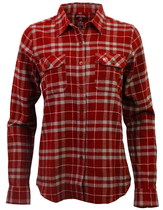 Women's Antigua Stance Red Flannel Shirt
