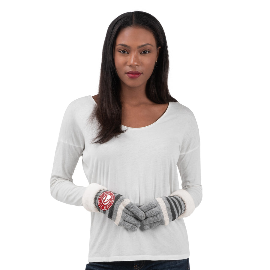 Women's GIII Warm Up Striped Gloves