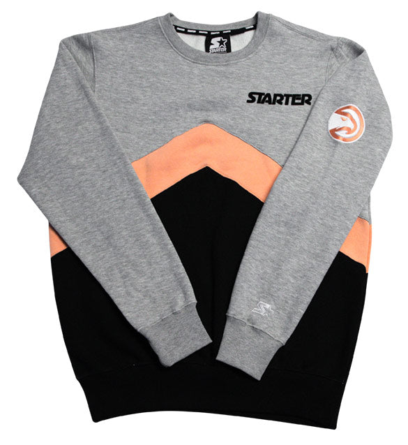 Starter/GIII Peachtree Color Block Crew Neck Sweatshirt
