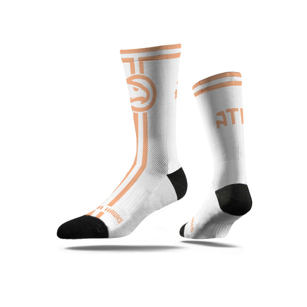 Peachtree White Crew Sock
