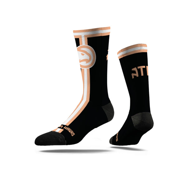 Peachtree Black Crew Sock