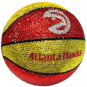 Atlanta Hawks Retro Swarovski Crystal Basketball
