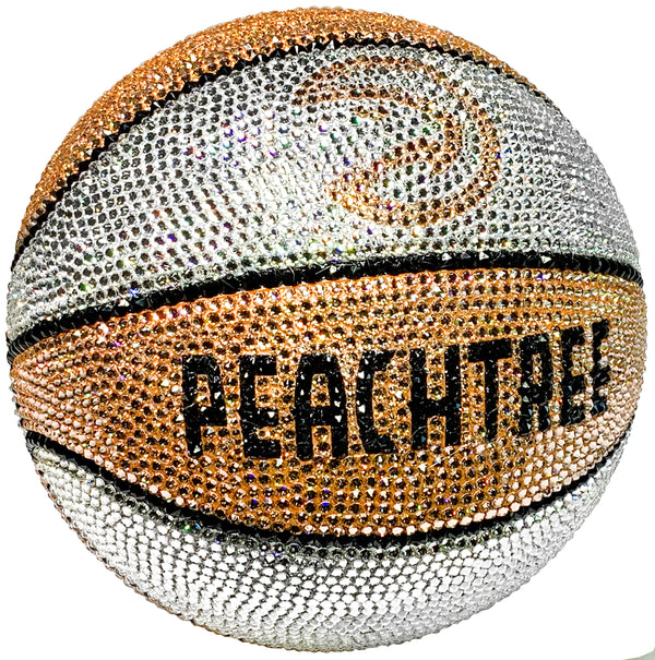 Atlanta Hawks Peachtree Swarovski Crystal Basketball