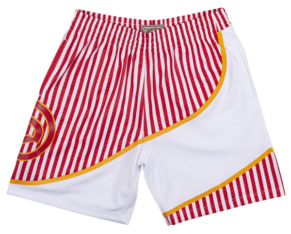 Mitchell & Ness Hawks '86-'87 Striped Swingman Shorts