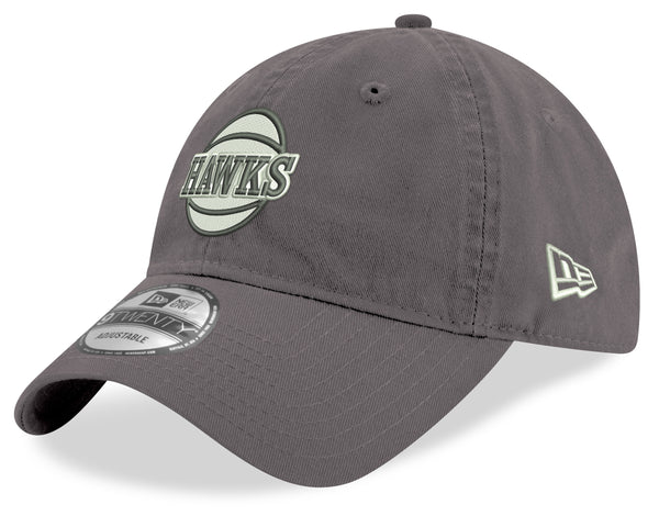 New Era Hawks Basketball 9TWENTY Adjustable Hat - Grey