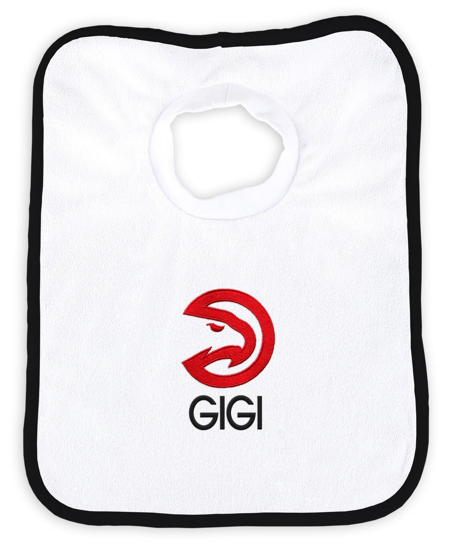 Chad & Jake Primary Personalized White Pullover Bib