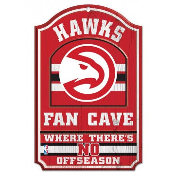 Wood Sign 11x17 Fancave - Red