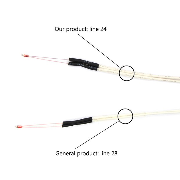 NTC 3950 100K Thermistor with 1 Meter Wiring and Female Pin Head 5 Pcs
