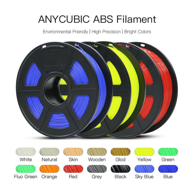 1.75mm ABS 3D Printer Filament(only available in the U.S.)