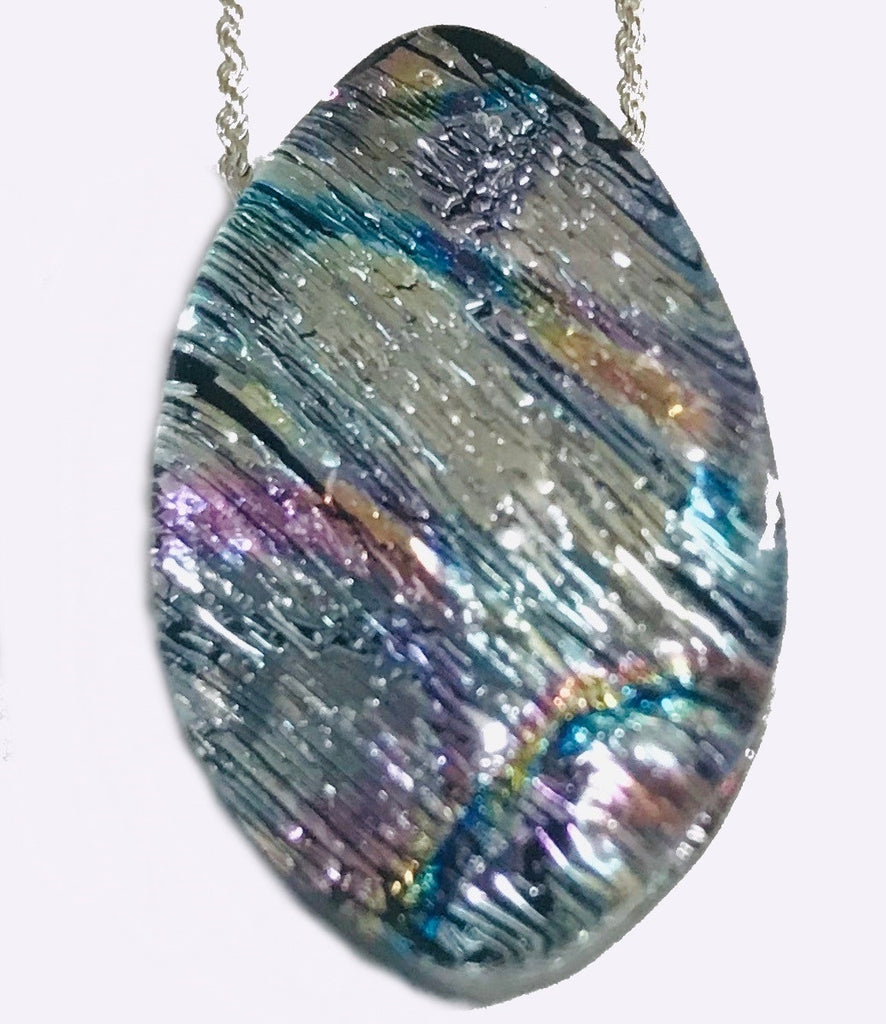Fractured Silver Energy Therapy Pendant