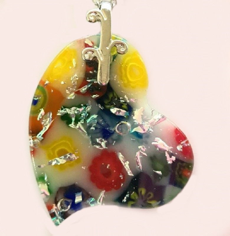 Hearts and Flowers Energy Therapy Pendant