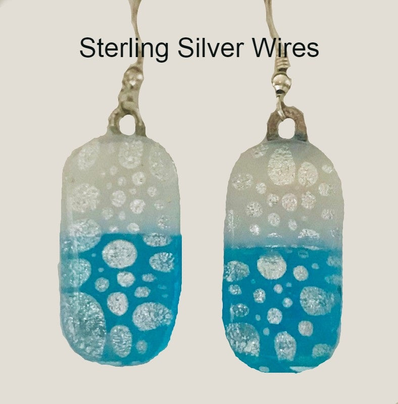 Silver  Bubbles Energy Therapy Earrings