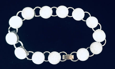 White Shimmer Energy Therapy Bracelet