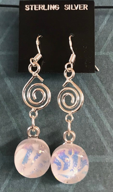 White Swirl Energy Therapy Dangles