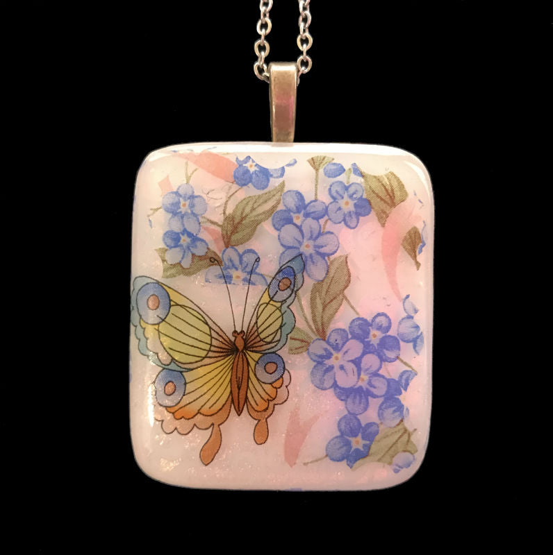 Butterfly Garden #1 Energy Therapy Pendant