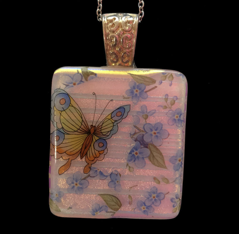 Butterfly Garden #2 Energy Therapy Pendant