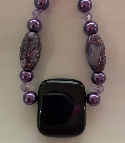 Purple Pearls Energy Therapy Bracelet
