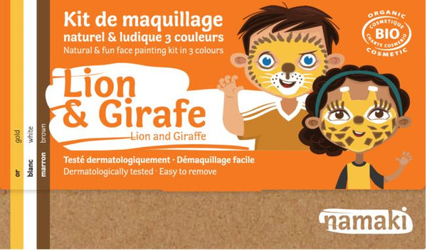Kit maquillage Namaki - Lion & Girafe