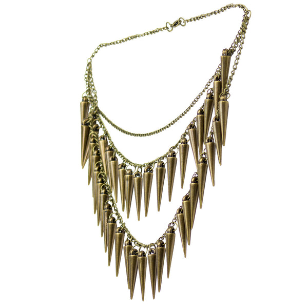 Tribal Ethnic Spikes Metal Necklace