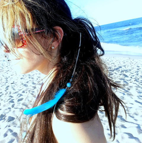 Freedom Feather encrusted Hair Extension
