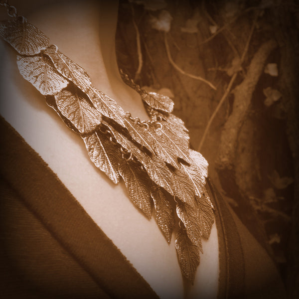 'Indigenous' Burnished Metal Leaf Bib