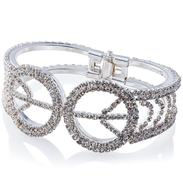 'Crystallized Peace' Evening Bangle