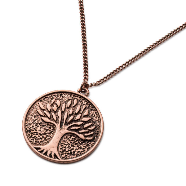 Double Tiered Tree Of Life Pendant Necklace