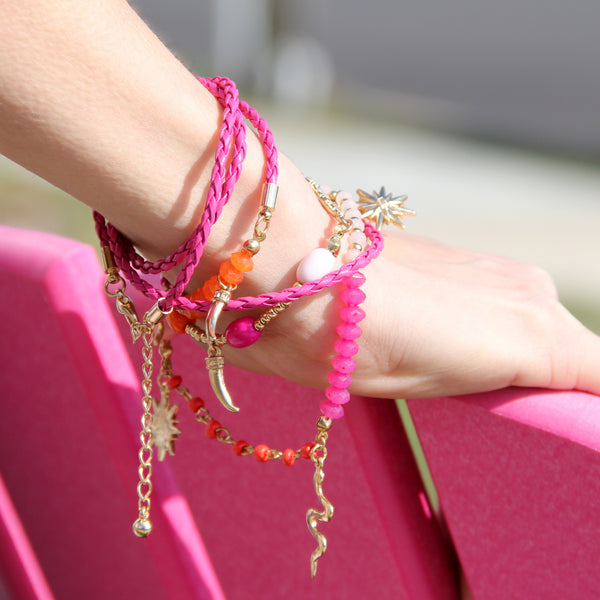 'Indigo Love Wrap' Neck Lanyard - Pink Beach