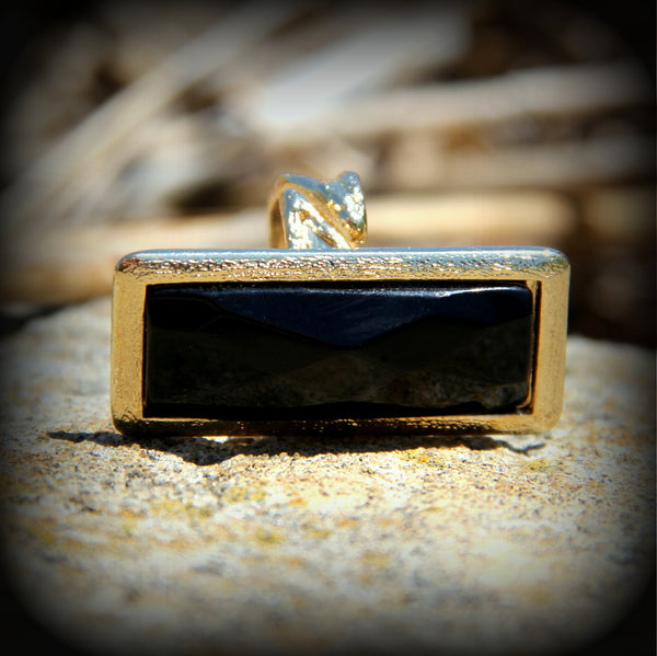 Black Onyx Slab Ring