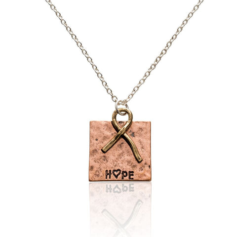 Supporting Hope' Hammered Copper Plate