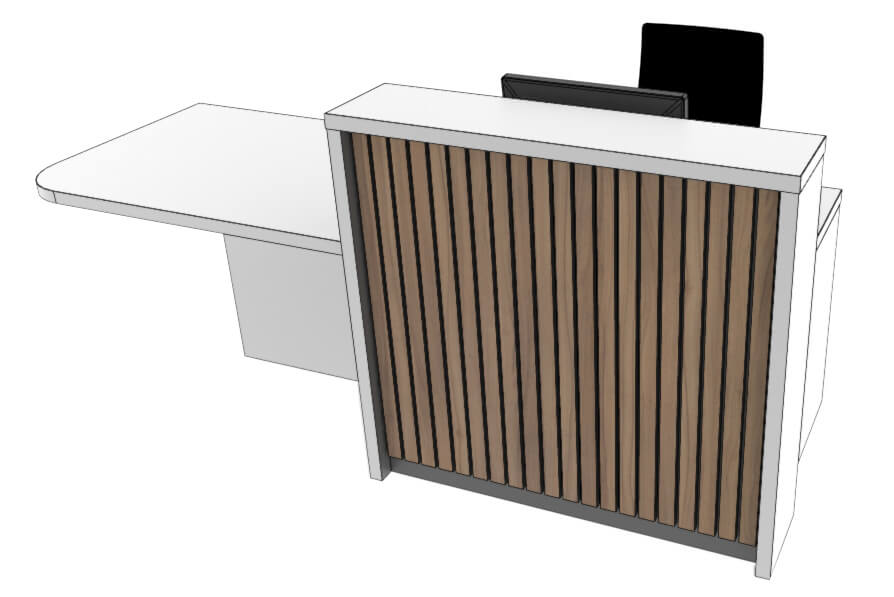 Clarke Rendall Stave Reception Desk