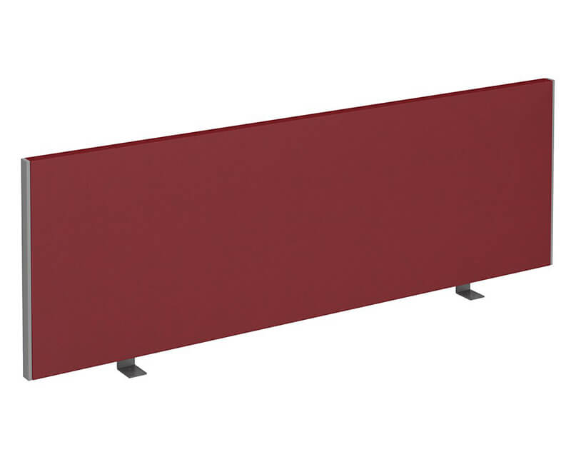Workpro Straight Desktop Fabric Screen with Silver Ends
