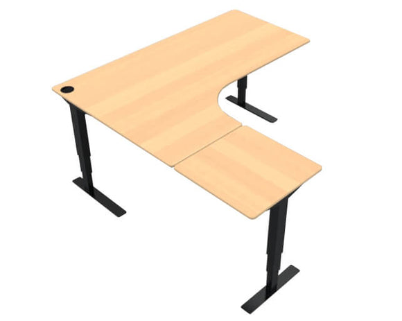 ConSet 501-37 Height Adjustable Return Desk