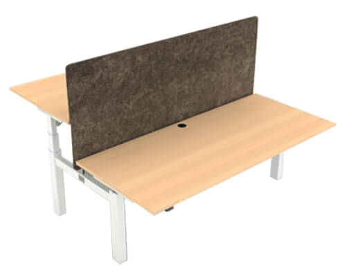 ConSet 501-88 Height Adjustable Two Person Bench Desk