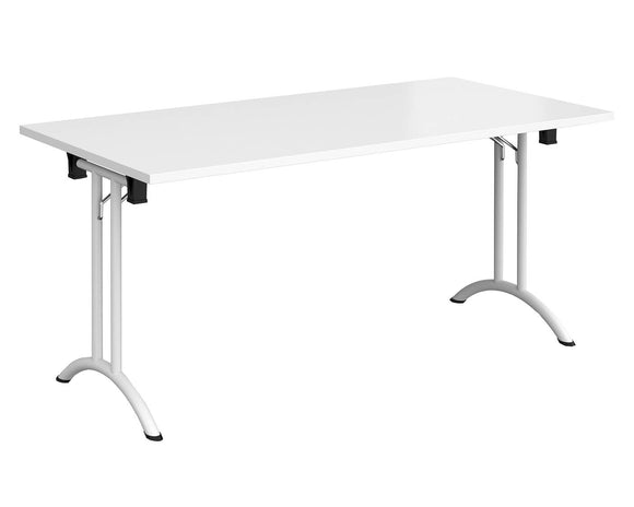 Workpro Rectangular Folding Leg Meeting Table with Curved Feet
