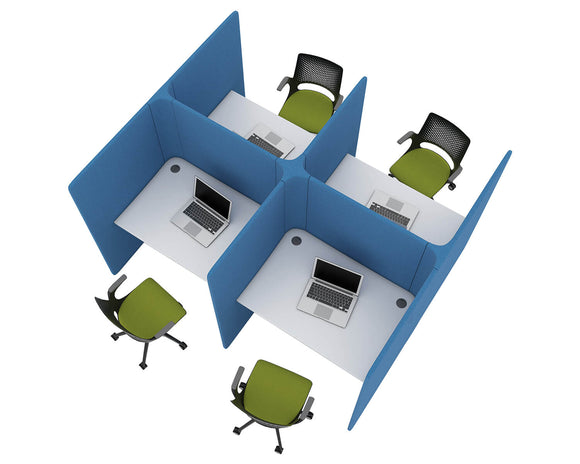 Social Spaces Soli Hub Four Person Workstation