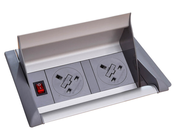 Social Spaces Aero Fliptop In-Table Power Module