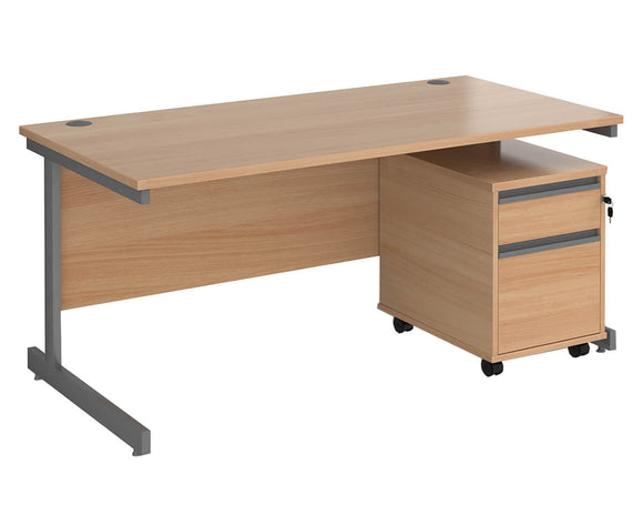 Workpro Bond Straight Desk with Pedestal