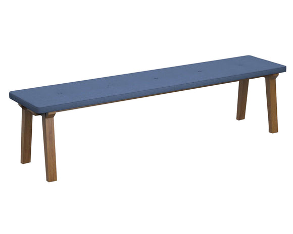 Social Spaces Crew Upholstered Dining Bench