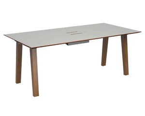 Social Spaces Crew Rectangular Table with Cutout