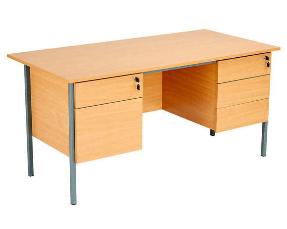 TC Group Eco 18 Single Desk with Double Pedestals