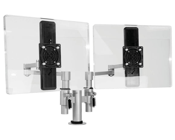 Elite Flex Double Monitor Arm - Post Mounted