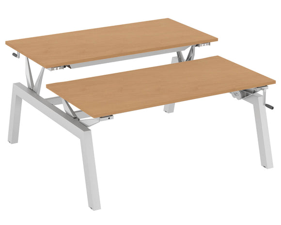 Elite Linnea Elevate Height Adjustable Double Bench Desk